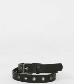 ceinture noir oeuillet